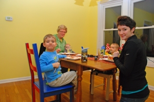 Grandma, Jess, with boys