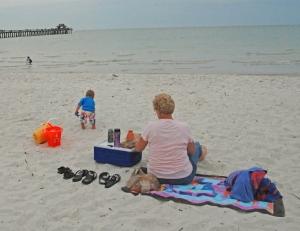 Deb, Micah, beach