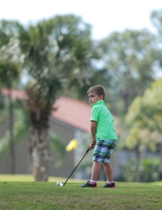 Ethan, golfing