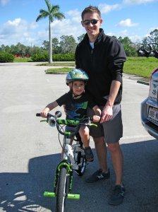 Ethan, Mike, bike