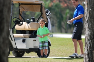 Mike, Ethan, golfing-4