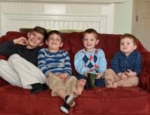 Ethan, Micah, Ivan, Abraham, Christmas, 2017-1
