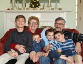 John, Deb, Grandsons, Christmas, 2017-2