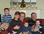 John, Deb, Grandsons, Christmas, 2017-3